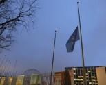 Ved UNESCOs hovedkvarter i Paris flagges det på halv stang. Foto: UNESCO