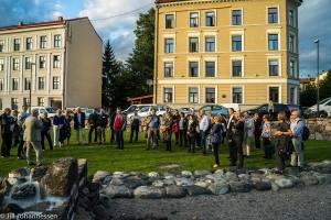 "Deltakerne fikk en omvisning i ""nye Oslo"". Foto: Jill Johannessen"